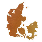 Textured map of Denmark — Stock Photo