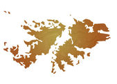 Textured map of Falkland Islands — Stock Photo