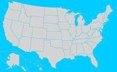 Usa valet staterna karta — Stockfoto