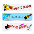 Stock Vector: Back to chool banners