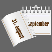1 сентября календарь — Cтоковый вектор