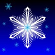 Snowflake on blue background - Stock Vector