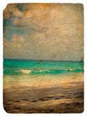 印度洋塞舌尔。老明信片. — 图库照片