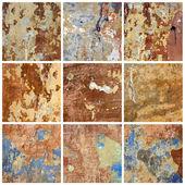 Stary mur. kolekcja — Zdjęcie stockowe