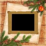 Christmas tree, and retro framework — Stock Photo #11550554