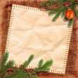 Christmas tree and Grunge paper — Stock Photo #11550562
