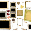A set of vintage photo frames - Stock Photo