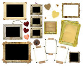 A set of vintage photo frames — Stock Photo