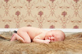 0-7 deys baby. New born baby. — Stock Photo