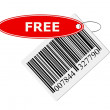 Barcode with labeling - Stock Photo