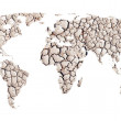 World map of dry ground — Stock Photo #11347136