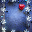 Stock Photo: Blue christmas frame