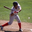 Portland Sea Dogs' Third baseman Heiker Meneses swings — Stock Photo
