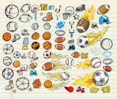 Mega Sports Vector Illustration Set — Stock Vector