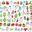 Christmas Holiday Winter Vector Set — Stok Vektör