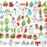 圣诞假期冬天向量设置 — 图库矢量图片