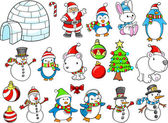 Christmas Holiday Winter Vector Set — Stock Vector
