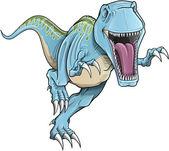 Tyrannosaurus Rex Dinosaur Vector Illustration — Stock Vector