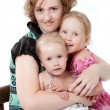 Stock Photo: Mother with two daughters