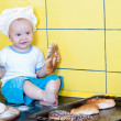 Royalty-Free Stock Photo: Little boy in the cook costume