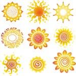 Sun symbols — Stock Vector #10789429