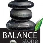 Balanced Zen stones — Stock Vector