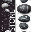 Black and white stones — Stock Vector