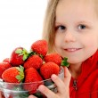 Strawberries girl — Stock Photo