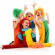 Funny clowns - Stock Photo