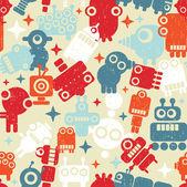 Robots seamless background. — Stock Vector