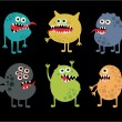 Cute monsters set. — Stock Vector
