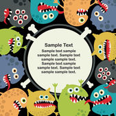 Cute monsters banner. — Stock Vector