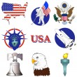 Royalty-Free Stock Vector Image: American Icons