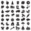Black silhouettes toys — Vector de stock