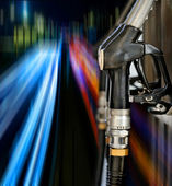 Dysze pompy na stacji benzynowej — Zdjęcie stockowe