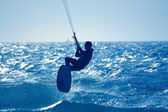 Kite-surfing — Stock Photo