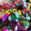Lovely colored stone jewelry and beads. — Stock Photo