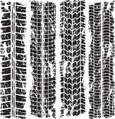 Tracce di pneumatici grunge — Vettoriale Stock