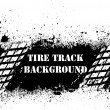 Tire track background on ink blots - Stock Vector