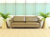 Interior design of modern living room. — Stock Photo