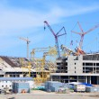 Stock Photo: Construction of the main stadium «Fisht» in Sochi, Russia