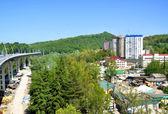 Construction of the road-doubler Kurortny prospectus in Sochi — Stock Photo