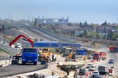 "Construction of a two-tier road interchange ""Adler Ring"" in Sochi — Stock Photo"