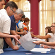 Stock Photo: Voting in preliminary elections (primaries)