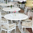 Stock Photo: Street cafe tables