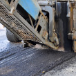 Milling of asphalt — Stock Photo