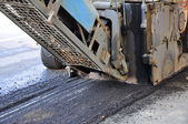 Milling of asphalt — Stock Photo