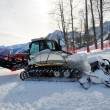 Snowcat on ski resort — Stock Photo