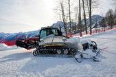 Snowcat on ski resort — Stock Photo