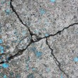 Cracked wall background — Stock Photo